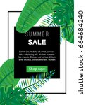 web sale banner with hand drawn ... | Shutterstock .eps vector #664684240