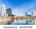 historical district building... | Shutterstock . vector #664694908