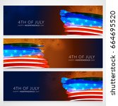 header or banner of usa... | Shutterstock .eps vector #664695520