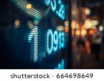 display of stock market quotes... | Shutterstock . vector #664698649