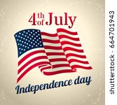 vintage style american... | Shutterstock .eps vector #664701943
