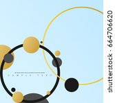abstract template with clean... | Shutterstock .eps vector #664706620