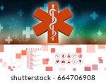 3d illustration medicine... | Shutterstock . vector #664706908