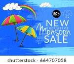illustration sale banner sale... | Shutterstock .eps vector #664707058
