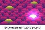 led glow pattern    vector... | Shutterstock .eps vector #664719340