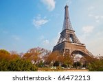beautiful eiffel tower in paris ... | Shutterstock . vector #66472213