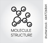 Molecule Stucture Linear Icon....