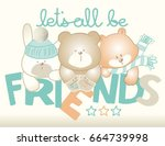 Little Puppies Friends.vector...