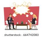 business people arguing  vector ... | Shutterstock .eps vector #664742083