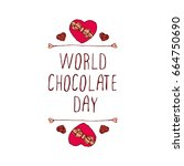 world chocolate day... | Shutterstock .eps vector #664750690