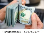 american dollars or us dollars  ... | Shutterstock . vector #664762174
