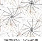 flower pattern vector ...   Shutterstock .eps vector #664763458