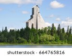 Iconic #11 headframe  of the former McIntyre Mine is a symbol of abandoned underground gold mine in Schumacher, Ontario, Canada.