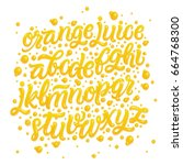 Fruit Alphabet Made Of Fresh...