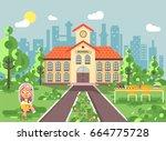 stock vector illustration child ... | Shutterstock .eps vector #664775728