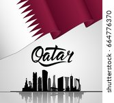 qatar lettering. with national...