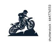 motocross vector illustration | Shutterstock .eps vector #664776553