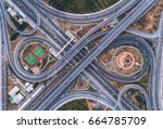 road beautiful aerial view of... | Shutterstock . vector #664785709