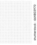 full page centimeter dot paper... | Shutterstock .eps vector #664803970