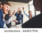 success and winning concept  ...   Shutterstock . vector #664817596
