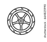 car wheel | Shutterstock .eps vector #664825990