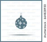 vector christmas ball | Shutterstock .eps vector #664828930