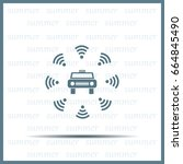 wifi in car icon | Shutterstock .eps vector #664845490