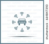 wifi in car icon | Shutterstock .eps vector #664847350
