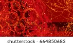 red artistic neo grunge style... | Shutterstock .eps vector #664850683