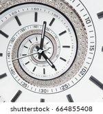 futuristic modern strass... | Shutterstock . vector #664855408