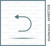 undo icon  back arrow symbol | Shutterstock .eps vector #664857328