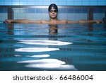 artistic portrait of swimmer... | Shutterstock . vector #66486004