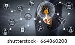 blue chip manager is unlocking... | Shutterstock . vector #664860208