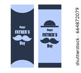 happy father's day concept for... | Shutterstock .eps vector #664872079