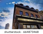 toronto wine and liquor shop in ...   Shutterstock . vector #664873468
