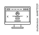 website design in computer...