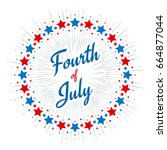 fourth of july typography...   Shutterstock .eps vector #664877044