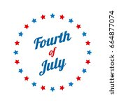fourth of july typography... | Shutterstock .eps vector #664877074