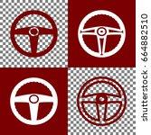 car driver sign. vector. bordo... | Shutterstock .eps vector #664882510
