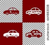 electric car sign. vector.... | Shutterstock .eps vector #664883038