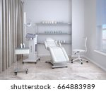 room with equipment in the... | Shutterstock . vector #664883989