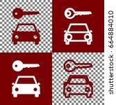 car key simplistic sign. vector.... | Shutterstock .eps vector #664884010