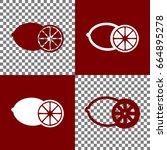 fruits lemon sign. vector.... | Shutterstock .eps vector #664895278