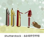 santa claus and three wise men | Shutterstock .eps vector #664895998
