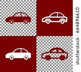 car sign illustration. vector.... | Shutterstock .eps vector #664896610