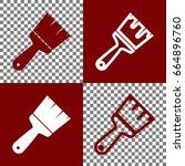 brush sign illustration. vector.... | Shutterstock .eps vector #664896760