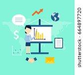 business woman illustration.   Shutterstock .eps vector #664897720