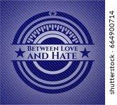 between love and hate denim... | Shutterstock .eps vector #664900714