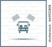 car wash vector icon. | Shutterstock .eps vector #664902808