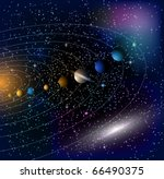 stars and parade of planets.... | Shutterstock .eps vector #66490375